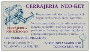 Cerrajeria Neo Key Vilanova i la Geltru - Cerrajeros de urgencia en Vilanova